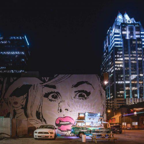 Austin TX Downtown Night